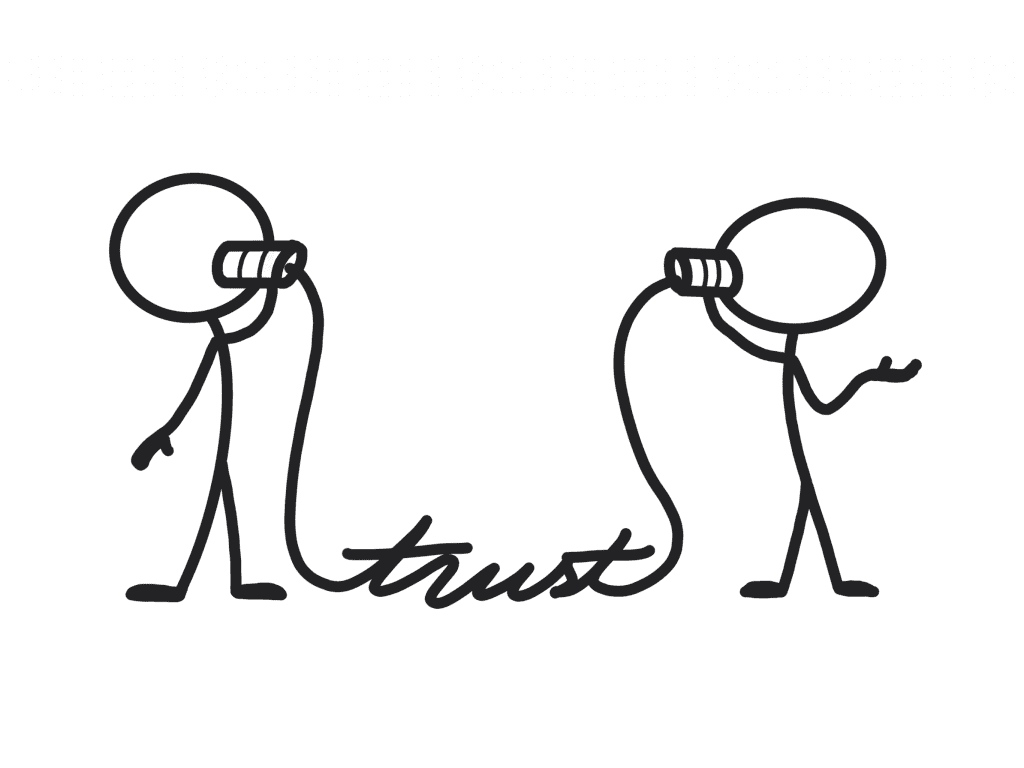 Two Individuals Who Have A Line Of Trust